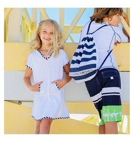 Snapper Rock Snapper Rock Sailor Stripe Toweling Dress