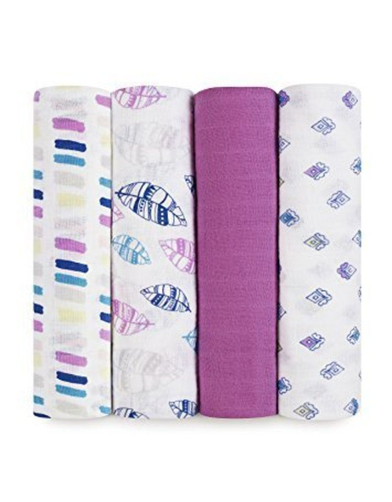 Aden and Anais Aden + Anais 4 Pack Swaddle Blankets