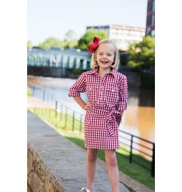 Prodoh Prodoh Belted Gingham Dress