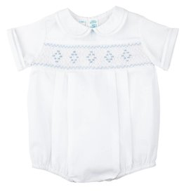 Feltman Brothers Feltman Smocked Embroidered Diamond Creeper