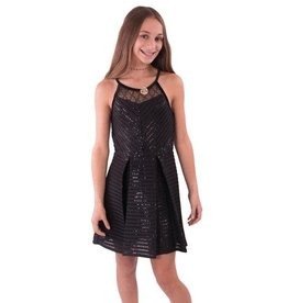 Elisa B Elisa B Sequin Scuba Dress