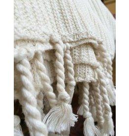 Viverano Viverano Tuck Knit Blanket w/Tassels
