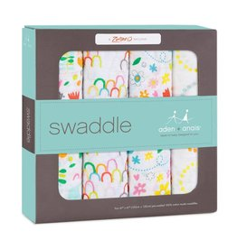 Aden and Anais Aden and Anais Zutano Classic 4 Pack Swaddle