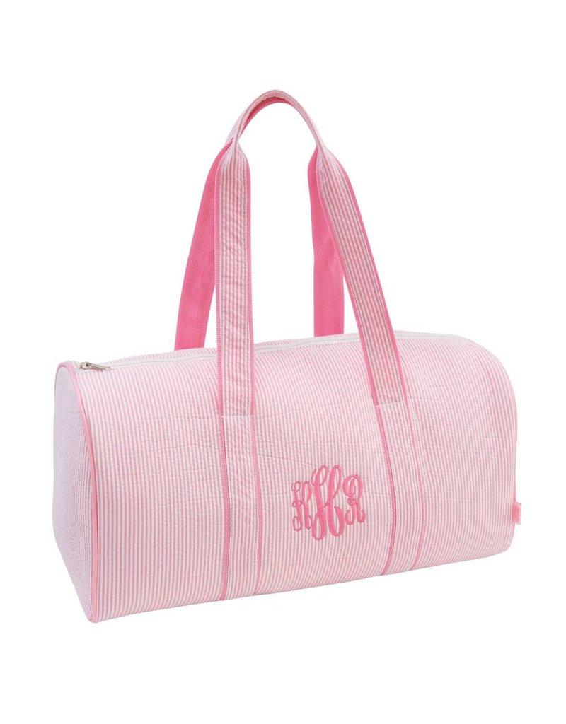 Mud Pie Mud Pie Pink Seersucker Duffle Bag