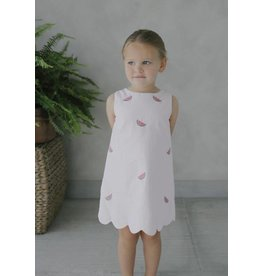 Little English Little English Embroidered Bow Back Dress