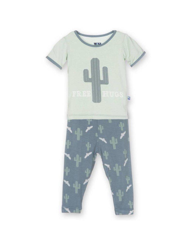 KicKee Pants KicKee Pants Print Short Sleeve Pajama Set- Big Kid