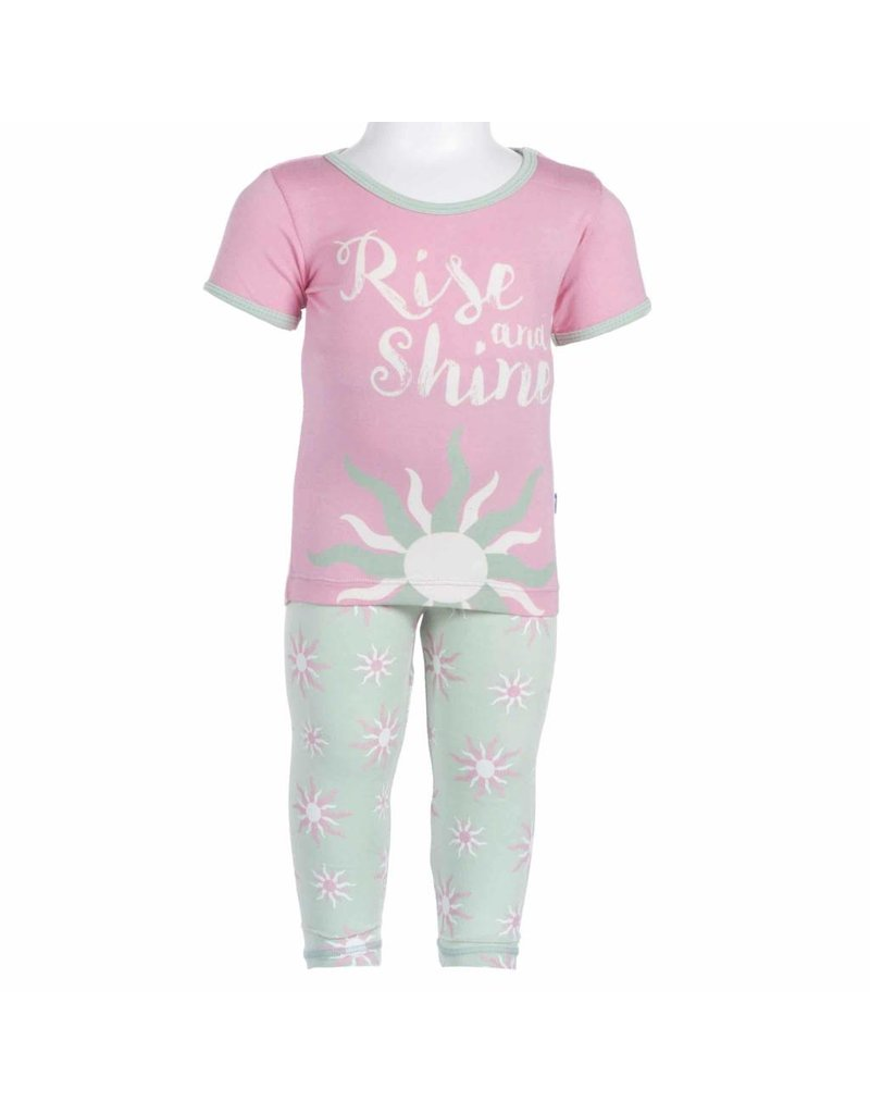KicKee Pants KicKee Pants Print Short Sleeve Pajama Set- Toddler
