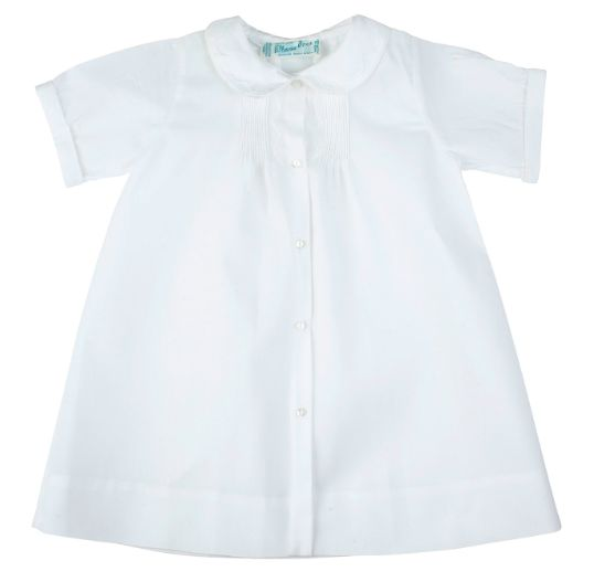 Feltman Brothers Feltman Brothers Boys Embroidered Collar Folded Daygown