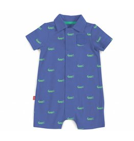 Magnificent Baby Magnetic Me Pique Polo Romper