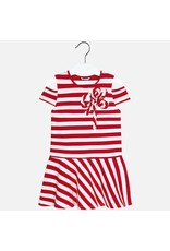Mayoral Mayoral Cold-Shoulder Stripe Knit Dress