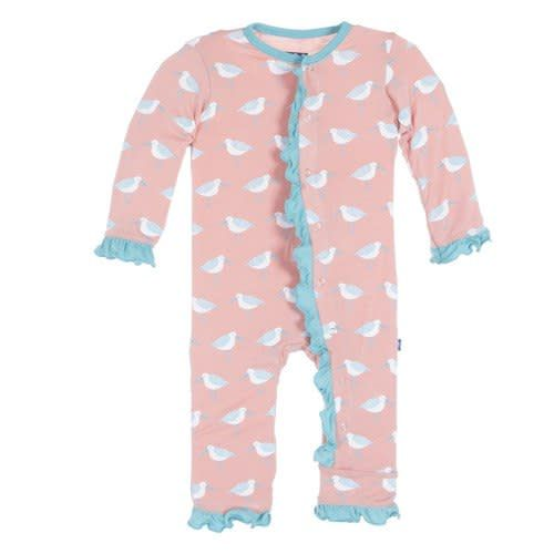 KicKee Pants Kickee Pants Print Fitted Ruffle Coverall