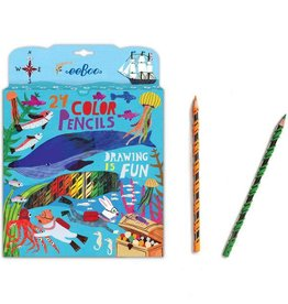 Eeboo eeBoo In the Sea 24 Color Pencils in Paper