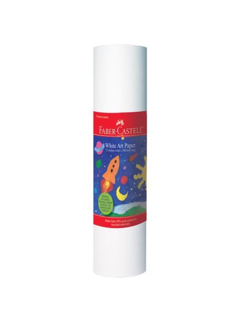 """Faber-Castell Faber-Castell White Paper Roll 12""""X100ft"""