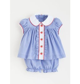 Little English Little English Apple Ruffled Sally Bloomer Set
