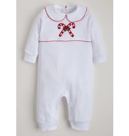 Little English Little English Candy Cane Crochet Playsuit