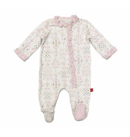 Magnificent Baby Magnetic Me Boho Bebe Ruffle Modal Footie