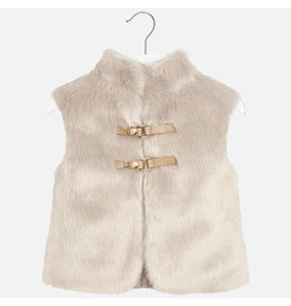 Mayoral Mayoral Knit and Faux Fur Vest