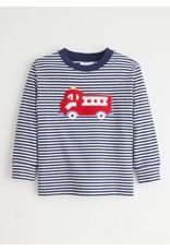 Little English Little English Fire Truck Applique Shirt