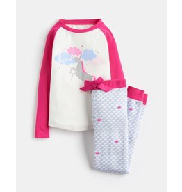 Joules Joules Sleepwell Unicorn Long Sleeve and Pant Set