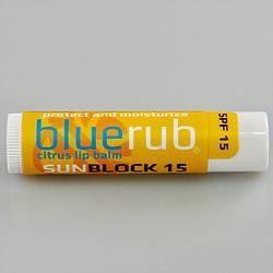 Blue Rub BLUERUB   CITRUS SUNBLOCK  SPF15 LIP BALM