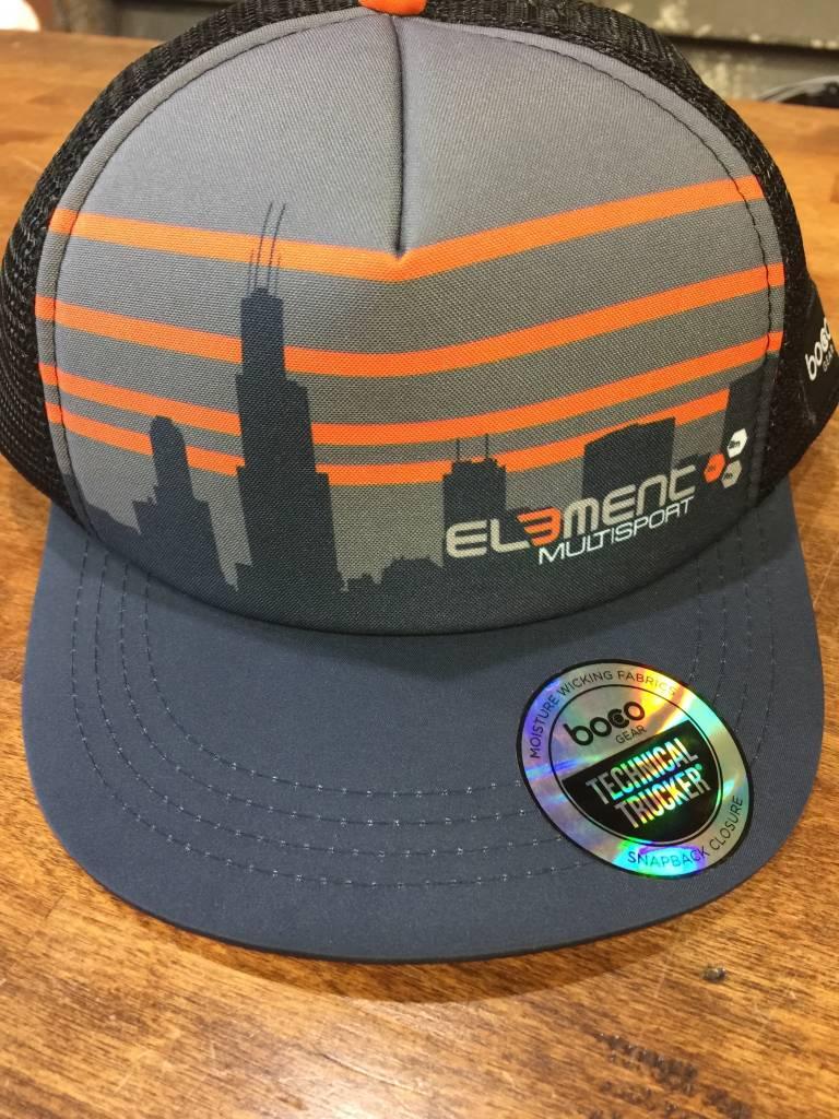 BOCO Gear Element Skyline Foam Technical Trucker Hat by BOCO Gear ... 1c26c10ece1
