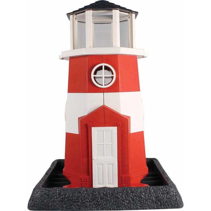 Lighthouse Bird Feeder Red/White