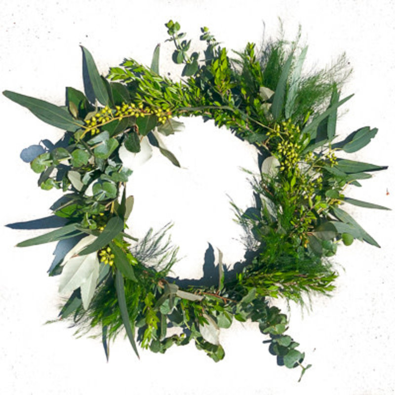 Mixed Greens Table Wreath