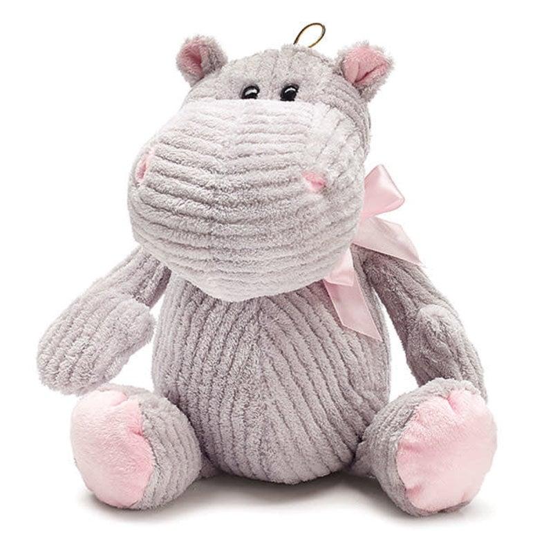 Plush Gray Hippo
