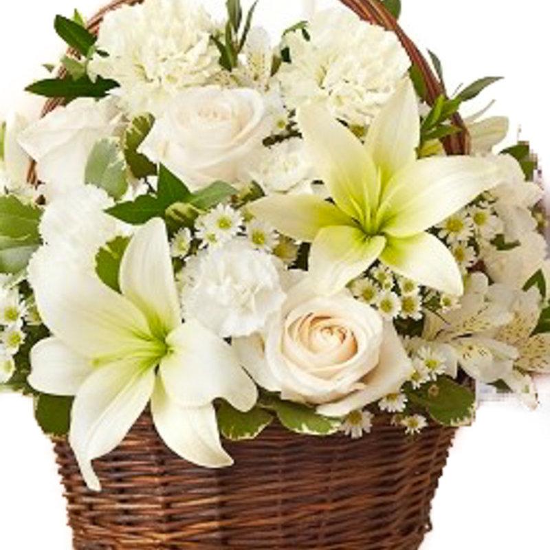 Classically White Basket