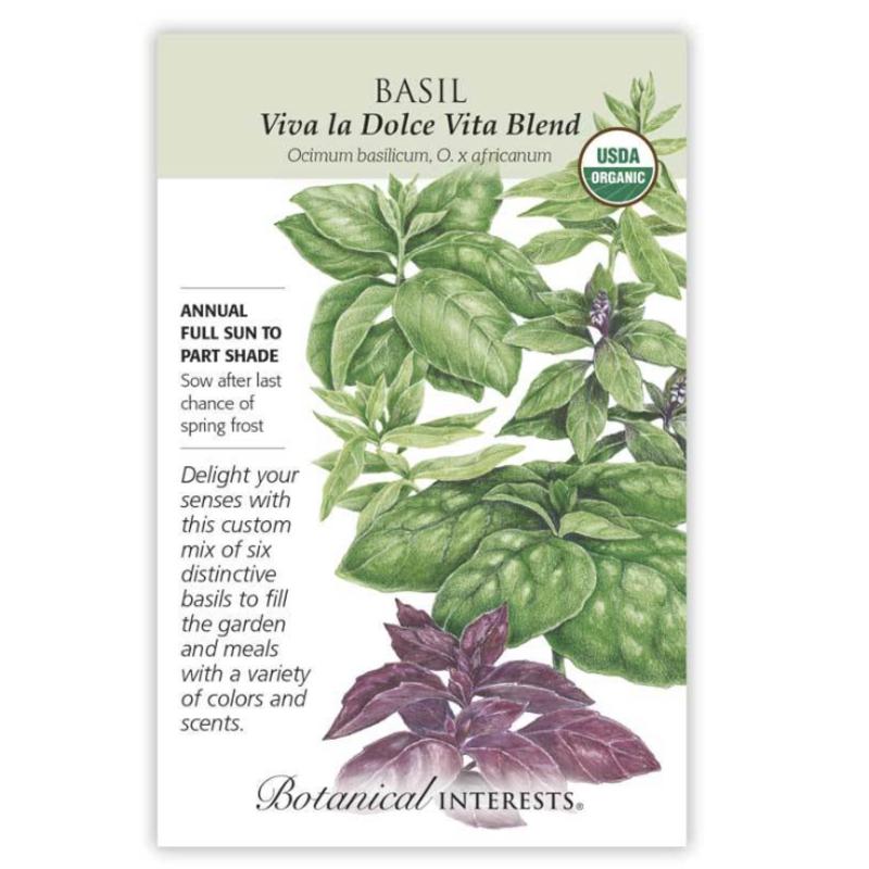 BI Seed, Basil Viva la Dolce Vita Blend Org