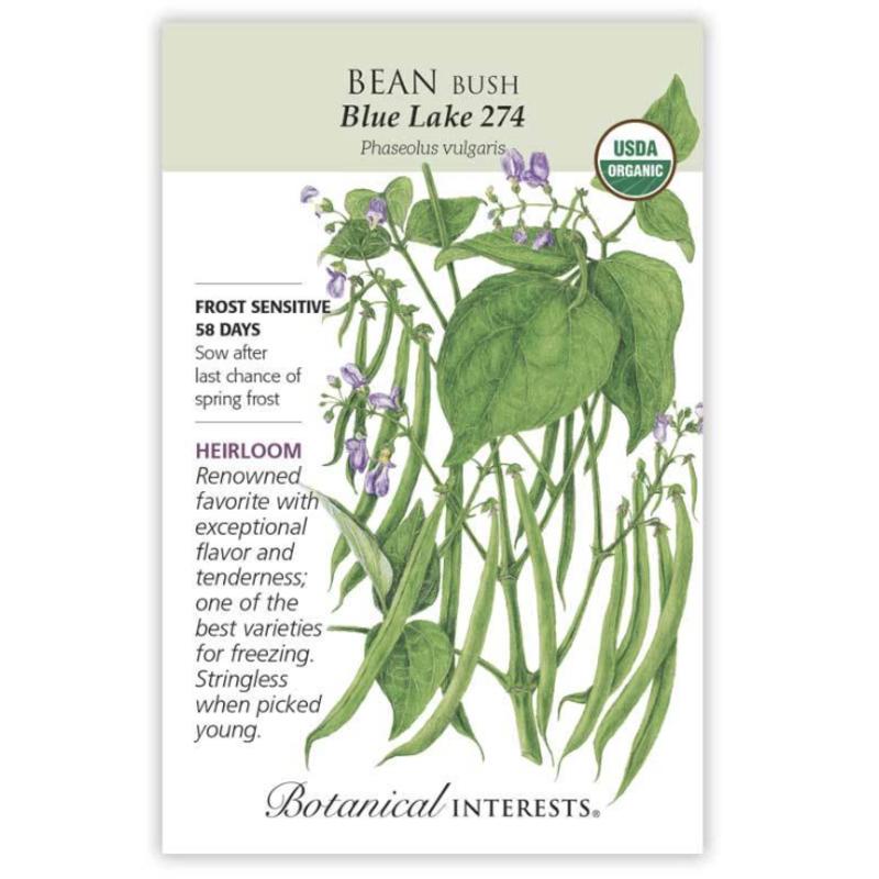 BI Seed, Bean Bush Blue Lake 274 Org