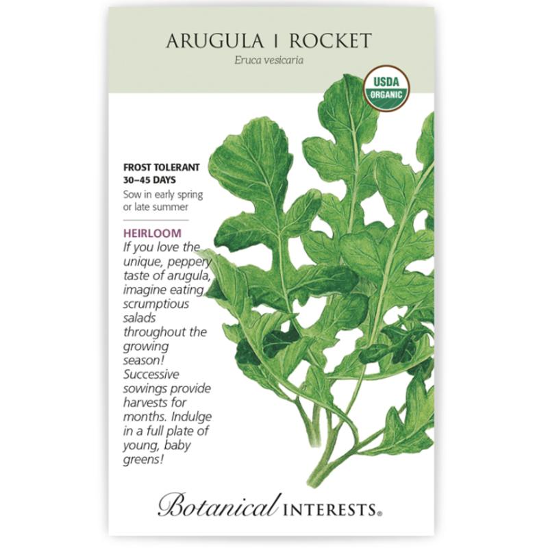 BI Seed, Arugula Rocket Org