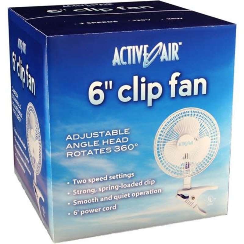 "Active Air Clip Fan 6"""
