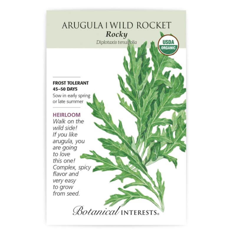 BI Seed, Arugula Wild Rocket Rocky Org