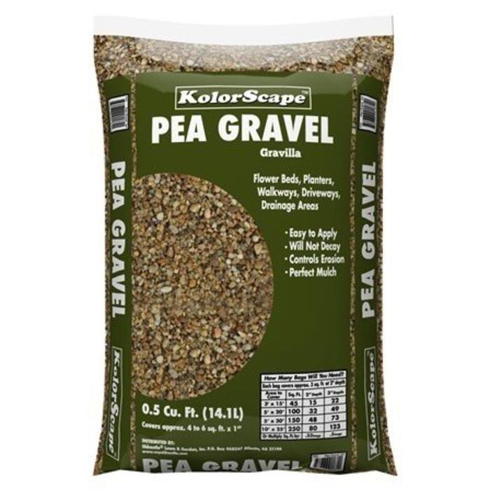 Bagged Rock Pea Gravel .5 CF