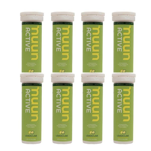 Nuun Hydration Lemon Lime Drink Case-  8 Tubes