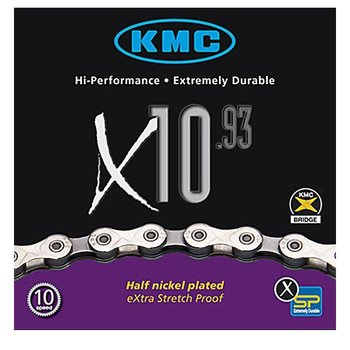 KMC X10.93: 10Spd Chain; 116 Links