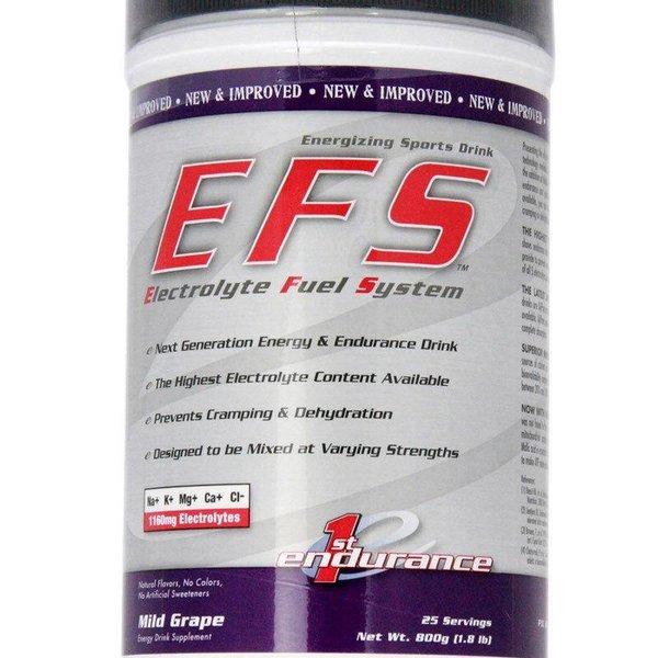1st Endurance EFS Mild Grape Drink Mix Can - 25 Serv