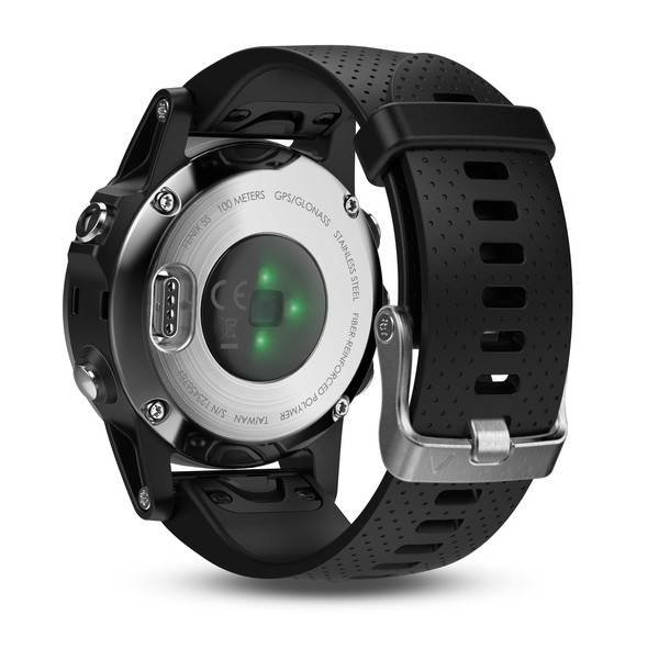 Garmin Fenix 5S Silver GPS Watch - Black Band