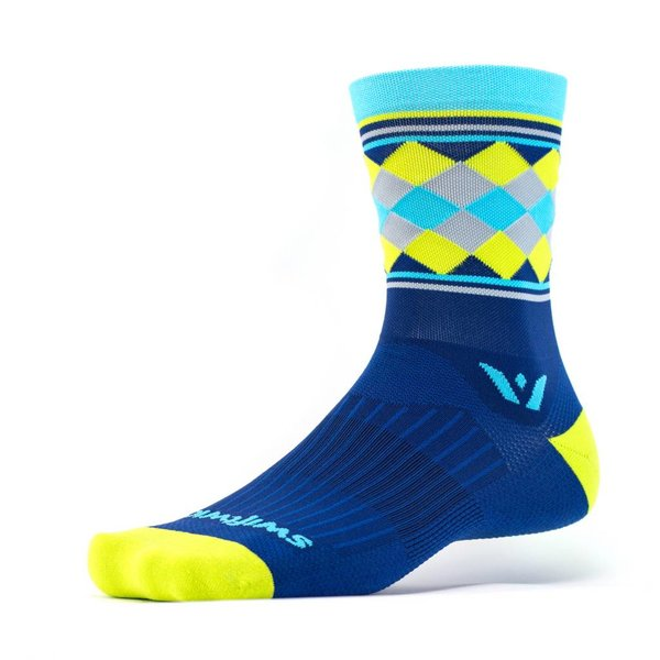 Swiftwick Vision FIVE Argyle Crew Socks