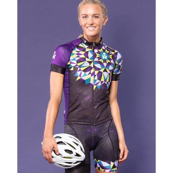 Betty Designs Kaleidoscope Cycle Jersey - Womens