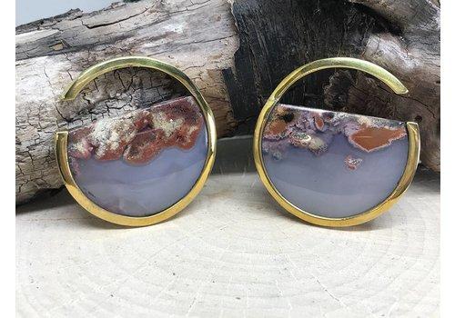Buddha Jewelry Organics Buddha Jewelry Nature Vs Nurture Muse Brass/Plume Agate small (6g)
