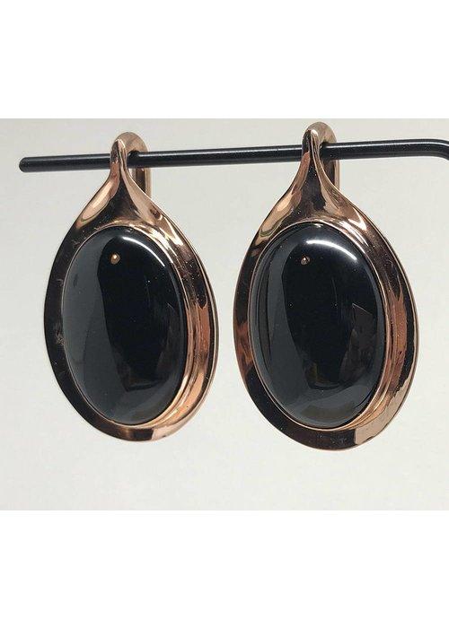 Buddha Jewelry Organics Buddha Jewelry Nature Vs. Nurture Aura Rose Gold Plated Onyx Medium