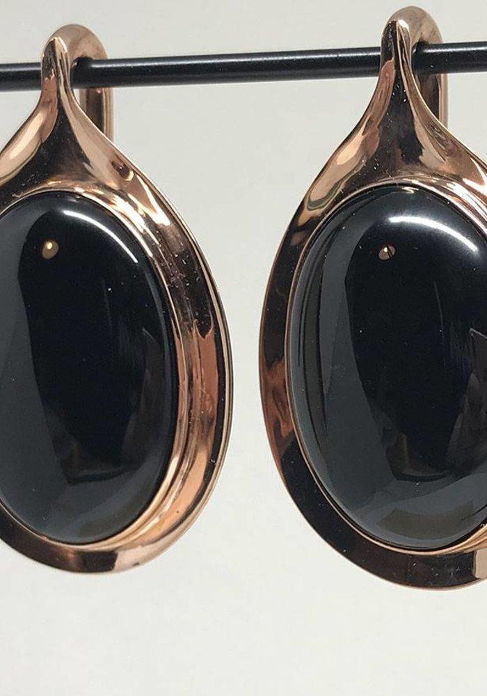 Buddha Jewelry Nature Vs. Nurture Aura Rose Gold Plated Onyx Medium