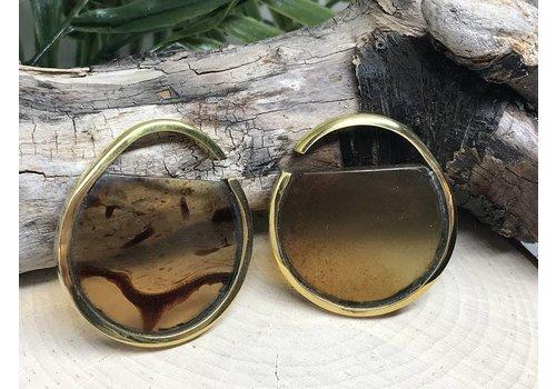 Buddha Jewelry Organics Buddha Jewelry Nature Vs Nurture Muse Brass/Amber Small (4g)