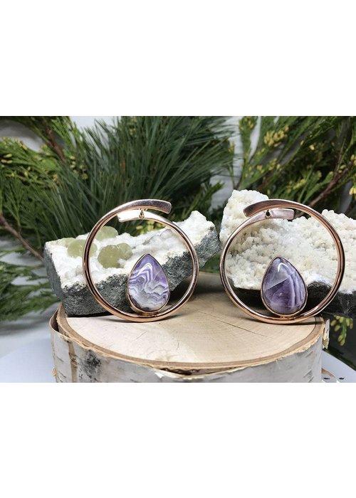 Buddha Jewelry Organics Buddha Jewelry Stay Sexy Rose Gold with Amethyst Medium 16g