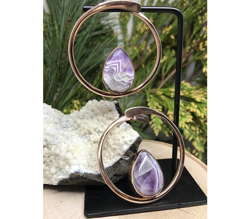 Buddha Jewelry Stay Sexy Rose Gold with Amethyst Medium 16g