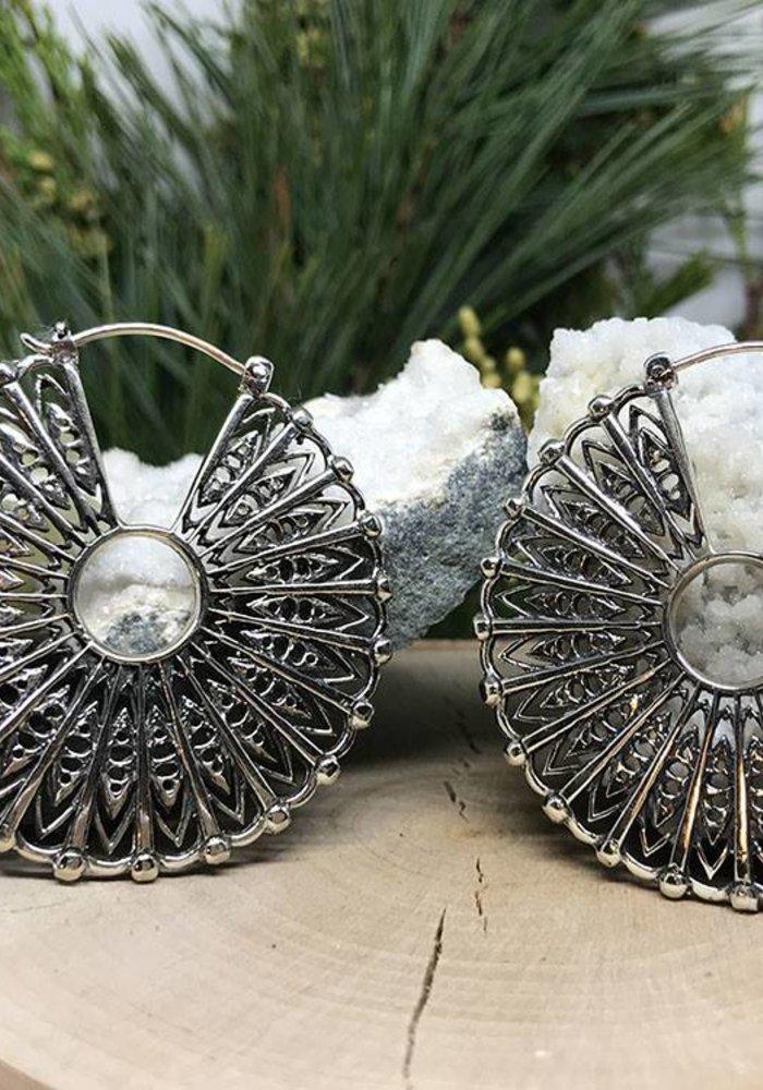 Maya Jewelry Cloak in White Brass 18g