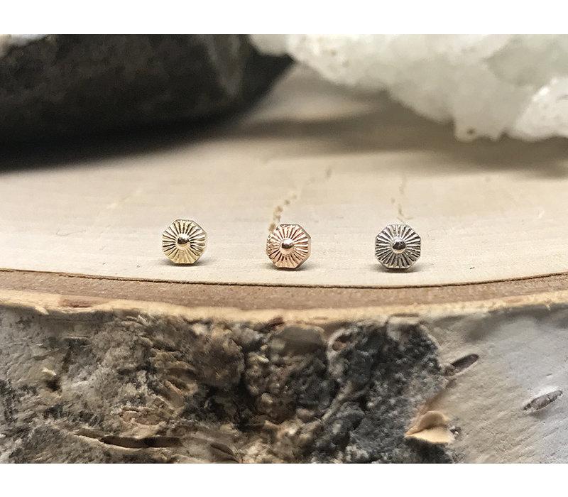 Tether Jewelry Alpha 08  14k White Gold Threadless