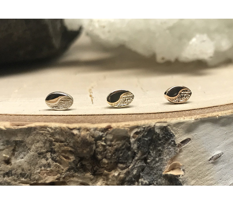 Tether Jewelry Beta 02  14k White Gold Threadless